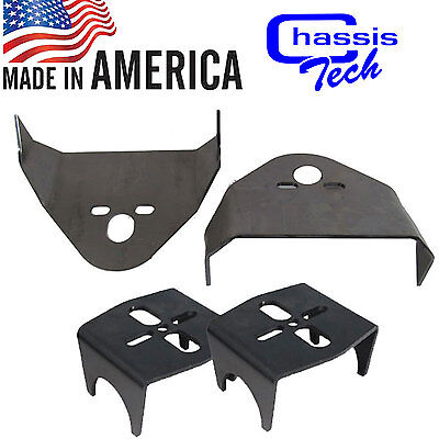 """Weld On Upper & Lower Air Bag Mounting Brackets Mounts Air Ride Suspension 3""""axl"""