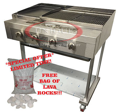 4 Burner Gas Chargrill Charcoal Grill Heavy Duty For Commercial Use