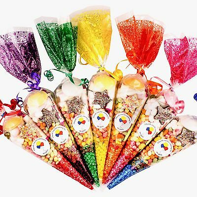 15 x Pre filled Kids Children's  Sweet  party cone Bags  Free Postage