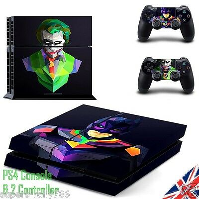 Batman & Joker Playstation PS4 Skin Wrap Sticker Decal Console + 2 Controllers