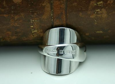 Chunky Inverted Solid Sterling Silver Spoon Ring -Size N