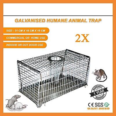 2 X Mouse Mice Rat Trap Humane Rodent Cage Control Bail Live Catch Animal Safe