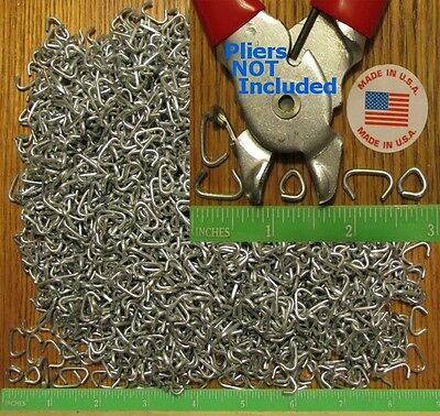 """250 Hog Rings 1/2"""" Galvanized Netting Tags Fences Bungee Sausage or Meat Casing"""