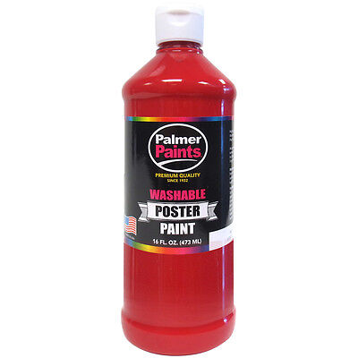 Washable Poster Paint 16oz Red WP16OZ-226