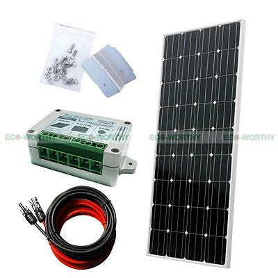 160W Watt COMPLETE KIT Solar Panel 12V RV Boat Caravan Off Grid Battery Charger