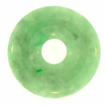 Natural Green Jadeite Jade Loose 'Pi' Disc (2348G40)