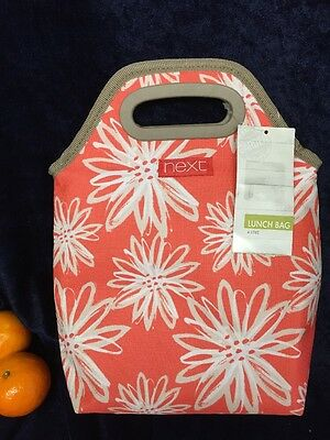 Next Floral Print Cool Bag Picnic 4 Litre Insulated Lunch Bag - New