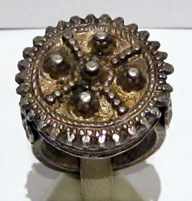 MAGNIFICENT, ANTIQUE HUGE SILVER RING, KNOWN AS REX RING, CIRCA 1800's  # 791