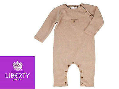 LIBERTY London Baby 12M / 80cm Pure cashmere Romper suit ALL-IN-1 BNWT RRP £149