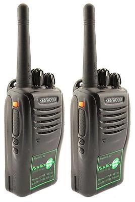 KENWOOD TK2360 VHF 5 WATT WALKIE-TALKIE TWO WAY RADIOS & SPEAKER MICS x 2
