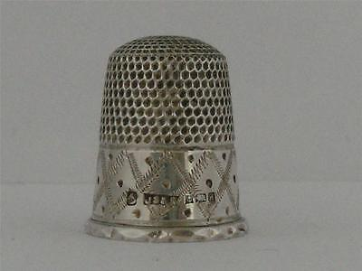 SOLID SILVER THIMBLE Birmingham 1975
