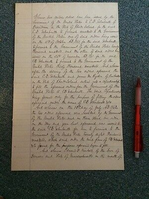 Vintage Civil War Document Schubarth Muskets Order Military 1861 Providence