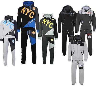 New NYC Boys Kids Fleece Sports Tracksuit Hoodie Jogging Bottom Age 7-13