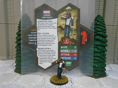 Heroscape Custom Logan Double Sided Card and Figure with Sleeve Marvel