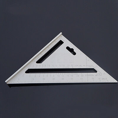 Square Carpenter's Measuring Layout Tool 7 inch Triangle Angle Protractor