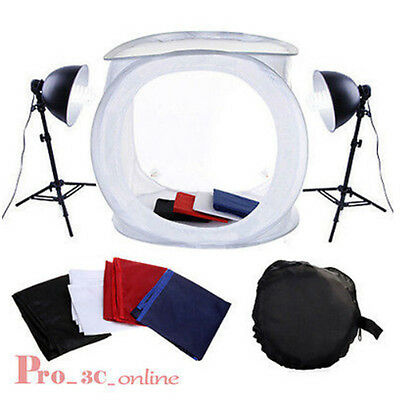 "32"" 80cm Photography Studio Cube Tent Softbox Lighting Light Stand Backdrop Kit"