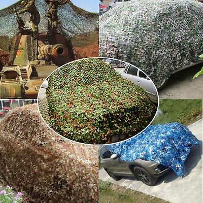 Woodland Stealth Camouflage Camo Net Shooting Hunting Hide Army 3M x 5M Cover