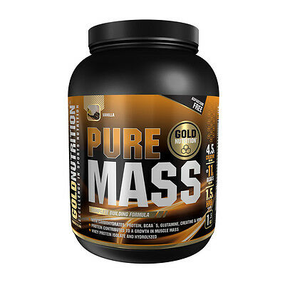 Anabolico Proteina Pure Mass 1,5 Kg Sabor Vainilla - Gold Nutrition