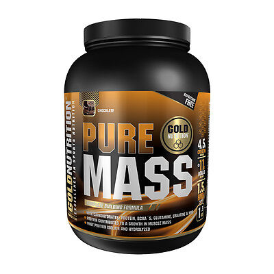 Anabolico Proteina Pure Mass 1,5 Kg Sabor Chocolate - Gold Nutrition