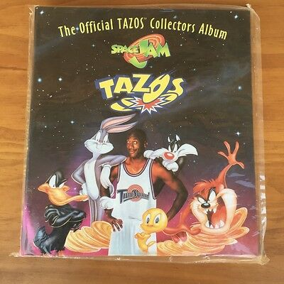 Vintage 1990S Space Jam Tazos Official Folder! - Sealed In Original Packaging