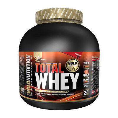 Proteina Total Whey 2 Kg Sabor Vainilla - Gold Nutrition