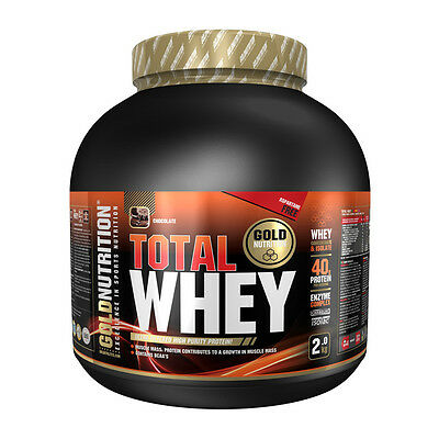 Proteina Total Whey 2 Kg Sabor Chocolate - Gold Nutrition