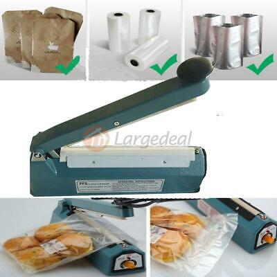 8 Impulse Manual Sealer Machine Plastic Heat Sealing Tubing Poly Bag Element Kit