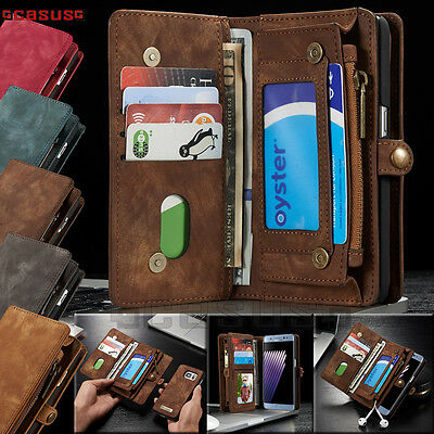 Samsung Galaxy S7/S7 Edge Leather Removable Magnetic Wallet Flip Card Case Cover
