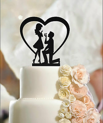 Fiance & Fiancee Engagement Cake Toppers - high quality acrylic, 3mm thickness