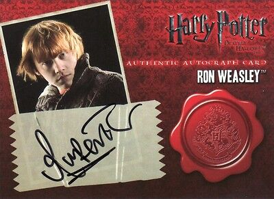 Harry Potter & the Deathly Hallows Part 1 Rupert Grint as Ron Weasley Auto Card