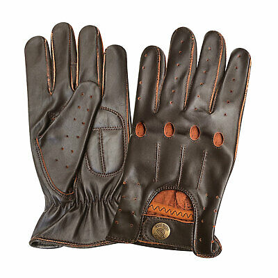 Mens fashion dress classic slim fit style driving gloves chauffeur cow nappa 517