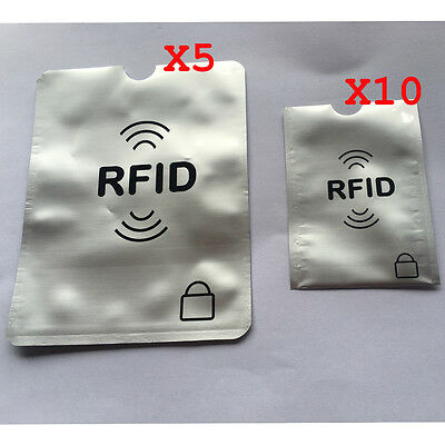 Credit/Card Passport RFID Protector Shield Holder Secure Case Blocking Sleeve