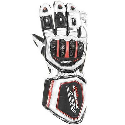 RST Tractech Evo CE White Motorcycle Motorbike Sports Gloves | All Sizes