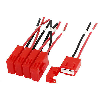 BT 5 Pcs Red Plastic Coated Auto Car ATC Blade Inline Fuse Holder