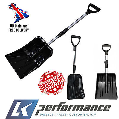 2Home Garden*pair* Telescopic Snow Shovel Scoop Car Wide Shovel Head Metal Strip