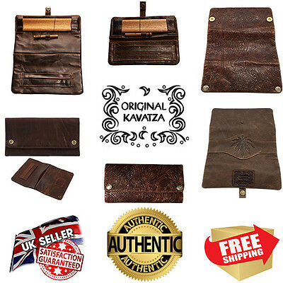 Original Kavatza Deluxe Leather Rolling Pouch Kits Wallet - Multi List
