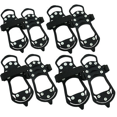 Anti Slip Shoe Boot Grips Ice Snow Cleats Spikes Gripper Non Slip Strap Crampons