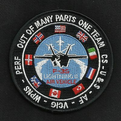 F 35 Lightning II Air Vehicle Stealth Fighter Military Patch OUT OF MANY PARTS