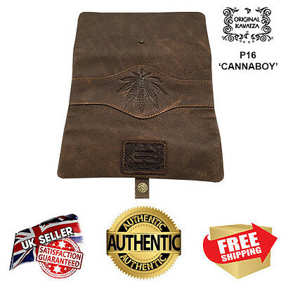 Original Kavatza Leather P16 Large Cannaboy Rolling Pouch Wallet