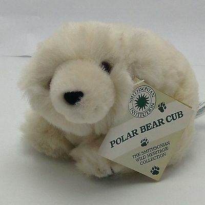 Polar Bear Cub Stuffed Smithosonian Wild Heritage Collection w Tag