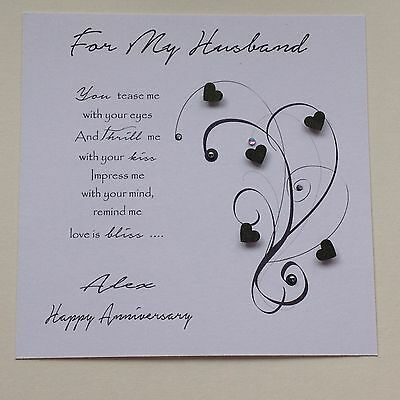 Personalised Handmade Birthday Card Husband Boyfriend Fianc Male