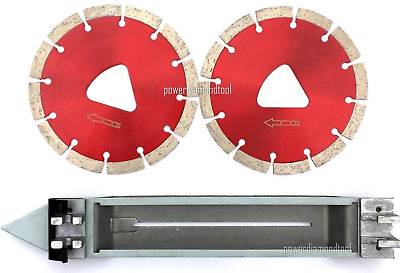 "2PK-6"" Husqvarna Soff-Cut RED Diamond Blade w/1 Skid Plate-BEST"