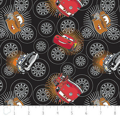 Disney Pixar Cars I Am Speed in Stone Camelot 100/% cotton fabric by the yard