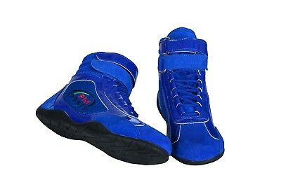 SHINY Karting//Race/Rally/Track Boots with artificial leather / suede mix BLUE
