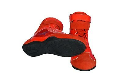 SHINY Karting//Race/Rally/Track Boots with artificial leather / suede mix RED