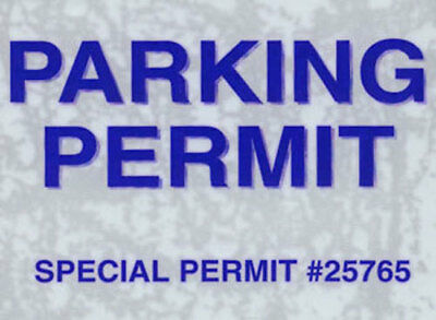 Parking Permit Windshield Static Cling Pass