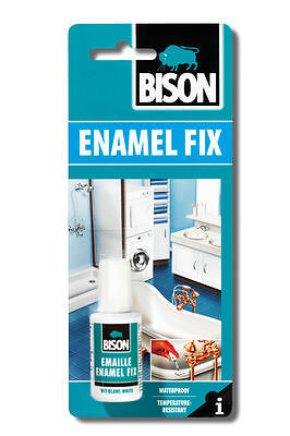 Bison Enamel Fix Repair Kit White Touch Up Paint Fixchip On Bath Sink 20ml