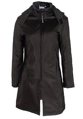 GIRLS NEW BLACK BLUSH DETACHABLE HOOD QUILTED WARM RAINPROOF WINTER COAT. 7-8yrs