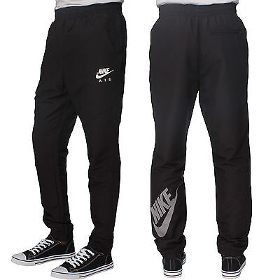 New Nike Air Mens Woven Tracksuit Jogging Bottoms Track Pants Joggers - Black