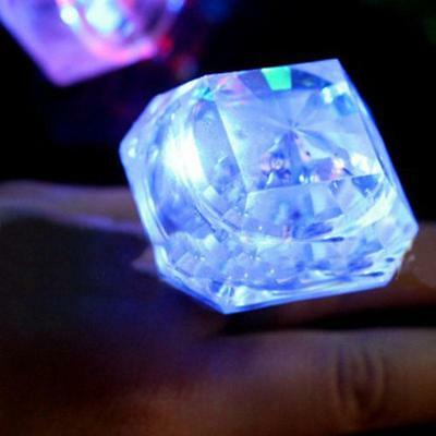 HEN Party Night Accessories Large Flashing Diamond Ring Novelty Bride To Be Gift